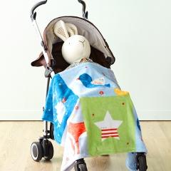 韩国 &story 小王子儿童毛毯四季空调毯卡通盖毯宝宝午睡毯儿童毯毯子 蓝色