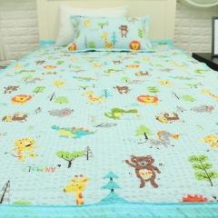 韩国 &story 动物园儿童秋冬床品三件套 儿童床垫