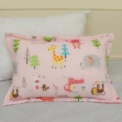 韩国 &story 小动物粉色儿童秋冬床品三件套 儿童枕套