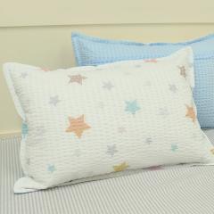 韩国&story 小星星儿童床品套件 波纹枕套