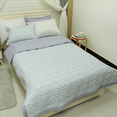 韩国 &story 水波波纹儿童床品套件 被子床垫 波纹被