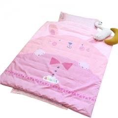 韩国进口&story儿童床品三件套纯棉小动物卡通三件套婴儿床上用品 小兔妮妮