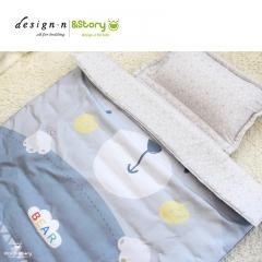 韩国进口&story儿童床品三件套纯棉小动物卡通三件套婴儿床上用品 小熊灰灰