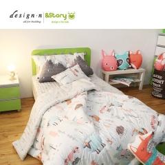 韩国&story森林王子卡通幼儿薄被150*205cm幼儿床垫 白色大被150*205cm