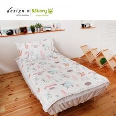 韩国&story森林王子卡通幼儿薄被150*205cm幼儿床垫 白色床垫110*205cm