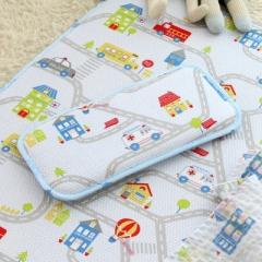 韩国&story儿童枕头3D枕头防偏头宝宝婴儿凉枕透气枕空气枕0-3岁 小汽车枕头