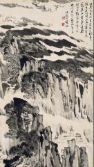 陆俨少 1979年作 山水 立轴68×37cm