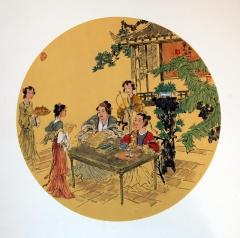 单永进 团扇人物  50x50cm (6)