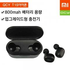 QCY T1S 2세대 블루투스 5.0 무선 이어폰[블랙]