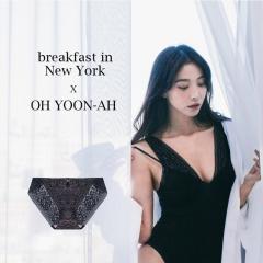 【进口保税】韩国Oh Lady 欧蕾伊 紧身裙内衣套装 黑色 内裤90