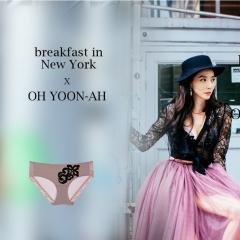 【进口保税】韩国Oh Lady 欧蕾伊 梦幻内衣套装可可 内裤90