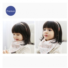 韩国正品代购borny 婴儿纯棉领巾围嘴口水巾天然有机棉 可可兔