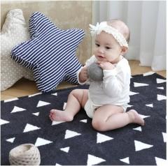 韩国正品Borny 婴儿儿童极细爬行垫爬行毯 黑色