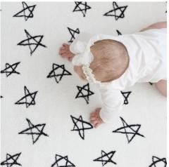 韩国正品Borny 婴儿儿童极细爬行垫爬行毯 白色