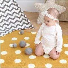 韩国正品Borny 婴儿儿童极细爬行垫爬行毯 黄色