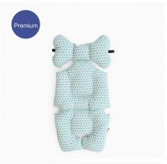 韩国正品代购borny Premium纯棉婴儿车安全座椅摇篮椅靠垫座垫 伊利贝贝 蓝