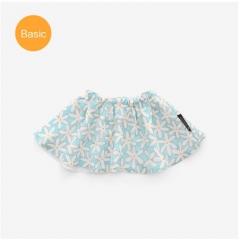 韩国Borny婴儿套头围嘴新款双面口水巾 雏菊 蓝