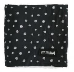 韩国DONO&DONO原装进口 双层防静电婴幼儿棉毯豆豆毯 黑色白波点