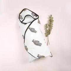 韩国正品DONO&DONO多乐双面可用新生儿带帽斗篷浴巾包被透气1条装 大熊