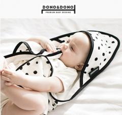 韩国正品DONO&DONO多乐双面可用新生儿带帽斗篷浴巾包被透气1条装 星空