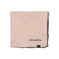 韩国进口DONO&DONO多乐多乐4层纯棉muslin浴巾106 x 106厘米 粉色