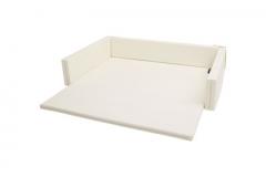 韩国原装进口DONO&DONO多乐婴儿儿童沙发床连地垫爬行垫 白色