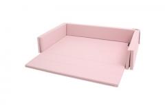 韩国原装进口DONO&DONO多乐婴儿儿童沙发床连地垫爬行垫 粉色
