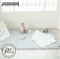 韩国原装进口正品DONO&DONO多乐婴儿折叠加厚卧室地板游戏爬行垫 灰色