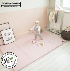 韩国原装进口正品DONO&DONO多乐婴儿折叠加厚卧室地板游戏爬行垫 粉色