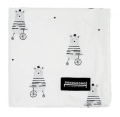 韩国DONO&DONO原装进口 双层防静电婴幼儿棉毯豆豆毯 自行车