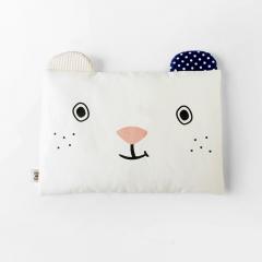 韩国merebe 婴儿定型枕 防偏头 防扁头 防螨虫 防水棉枕头 白色小熊