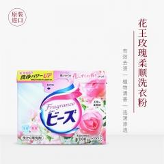 日本原装花王公主玫瑰洗衣粉含柔顺剂 衣物持久留香酵素配方800g